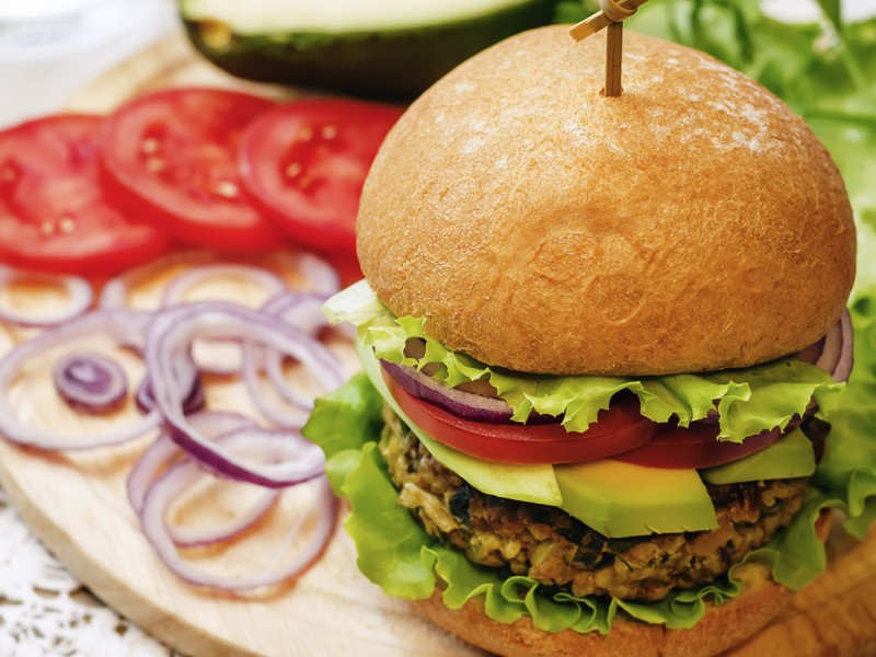 Avocado veggie burger