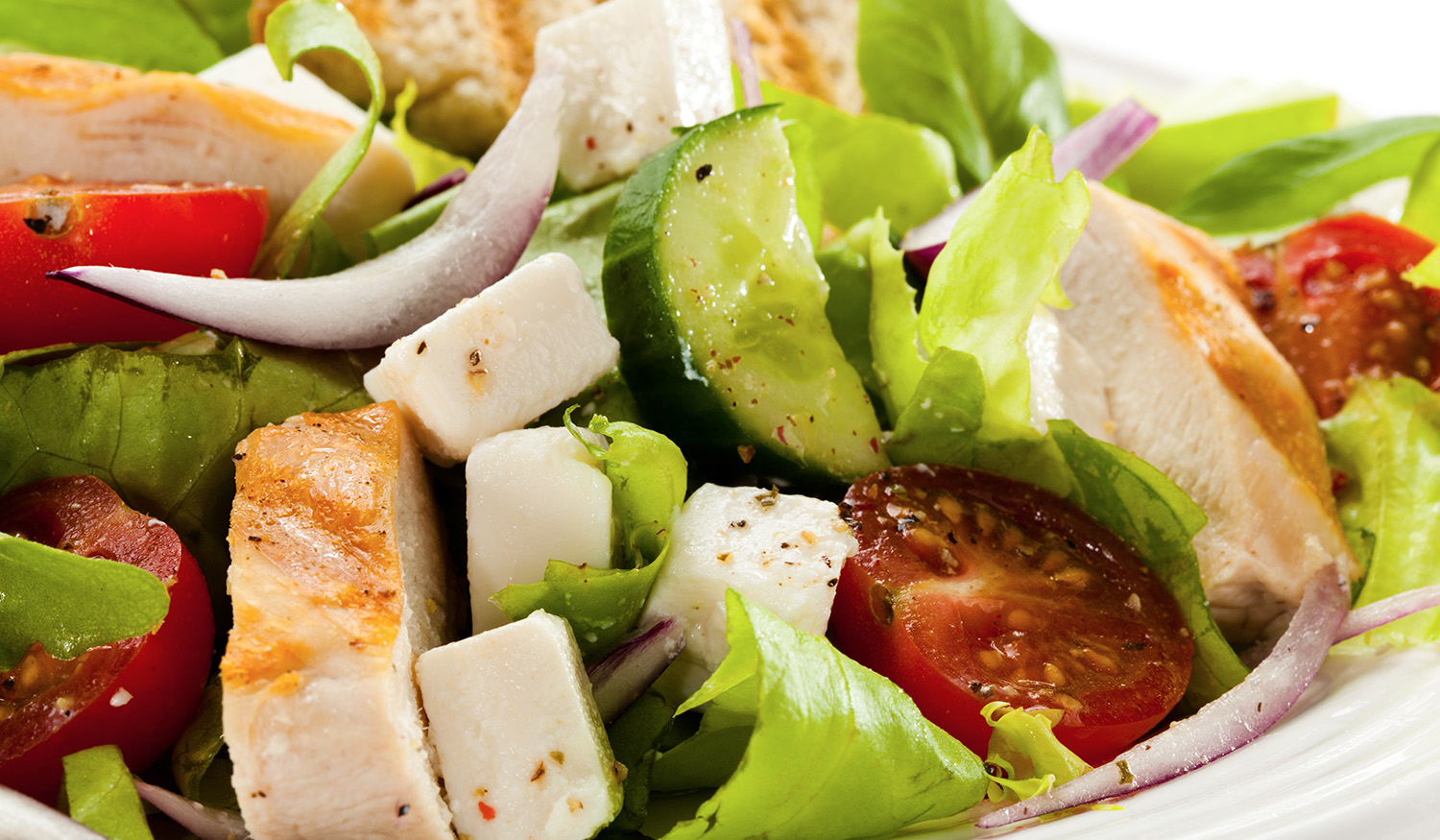 Grilled Chicken Greek Salad – Citiline Cafe