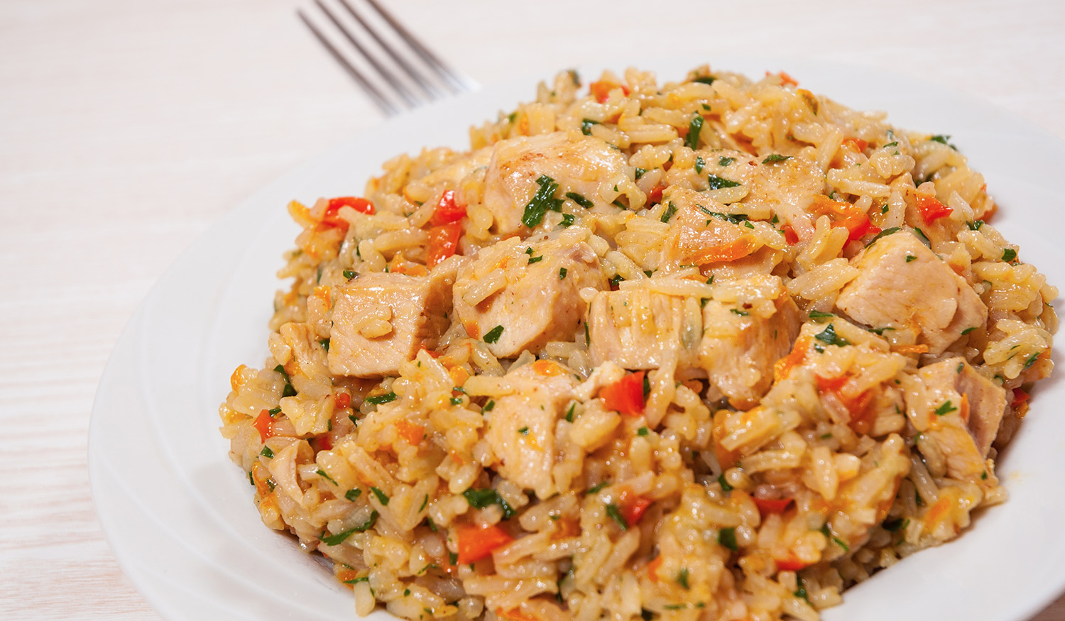 Chicken or shrimp fried rice
