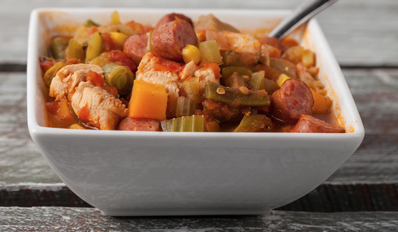 Sausage beans & rice